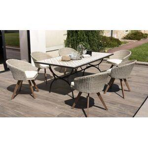 House and Garden Ensemble table carreaux ciment Tanger + 6 fauteuils Honolulu - Publicité