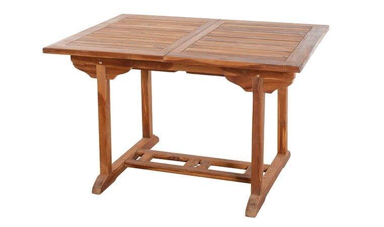 House and Garden TABLE DE JARDIN EN TECK HUILÉ EXTENSIBLE 120/180 CM - LANTA