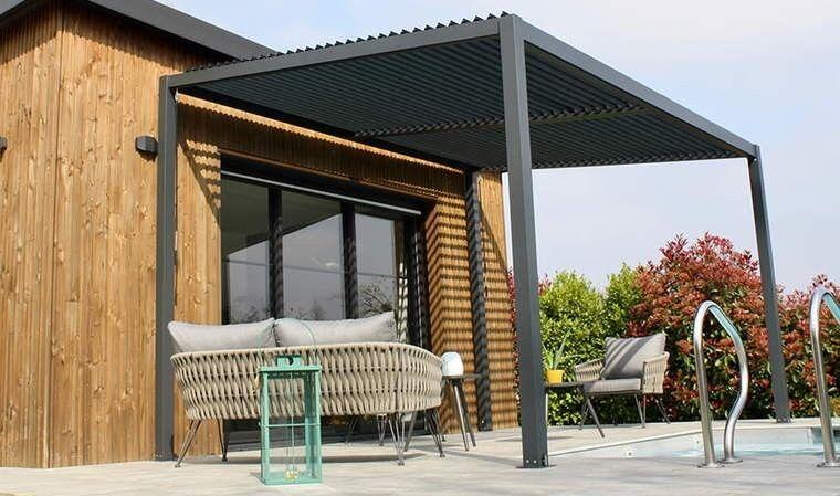 House and Garden Pergola bioclimatique à lames orientables 4x3,1M - Tramonto