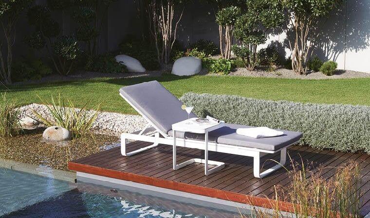 House and Garden BAIN DE SOLEIL DESIGN BLANC OPTION TABLE D'APPOINT - IBIZA