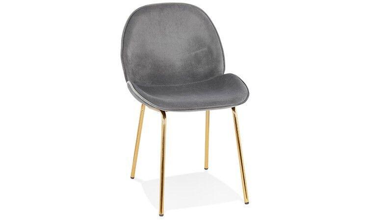 House and Garden Chaise chic velours et pieds dorés - Agar
