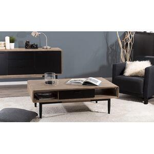 House and Garden Table basse en acacia avec rangements - Nero - Publicité
