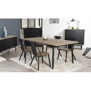 House and Garden Table salle à manger acacia et métal 200 x 100 cm - Nero - Publicité