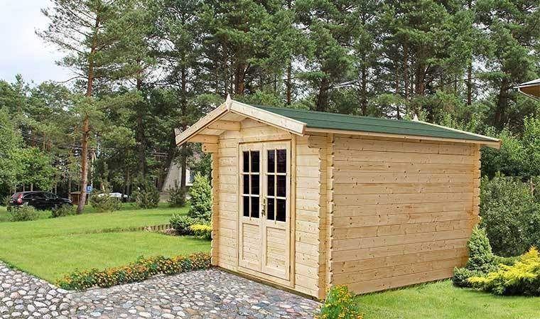 House and Garden Petit chalet de jardin en bois 4M2 toit en shingle - Mahonia