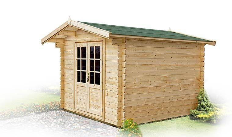 House and Garden PETIT CHALET DE JARDIN EN BOIS & TOIT EN SHINGLE 5M2 - MAHONIA