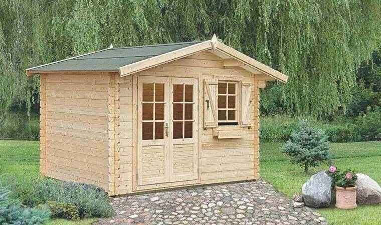 House and Garden PETIT CHALET EN BOIS & TOIT & SOUBASSEMENT INCLUS, 7M2 - PLANTAIN