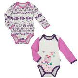 Petit Béguin Lot de 2 bodies bébé fille manches longues Snowyday - Taille - 24 mois