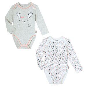 Petit Béguin Lot de 2 bodies bébé fille manches longues Pretty Bunny - Taille - 9 mois - Publicité