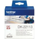 Brother Rub pt adhes noir/transp 62mm ruban continu supp adhesif dk22113
