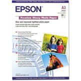 Epson papier jet d'encre photo glossy premium a3 20 feuilles