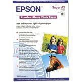 Epson papier jet d'encre photo glossy premium a3+ 20 feuilles