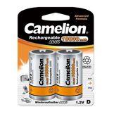 Camelion Pack de 2 piles rechargeables LR20/HR20 Ni-Mh accu 10000 mAh