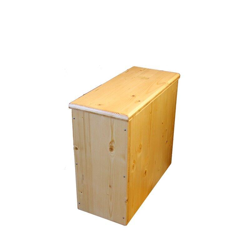 Bac à copeaux de bois huilé avec couvercle