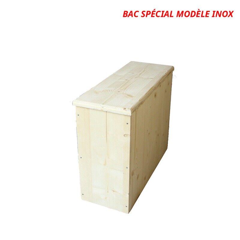 Bac à copeaux de bois avec couvercle - spécial modèle inox