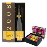Interflora Champagne Veuve Clicquot et ses macarons FAUCHON