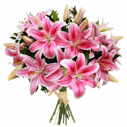 Interflora Brassée de 9 lys rose...