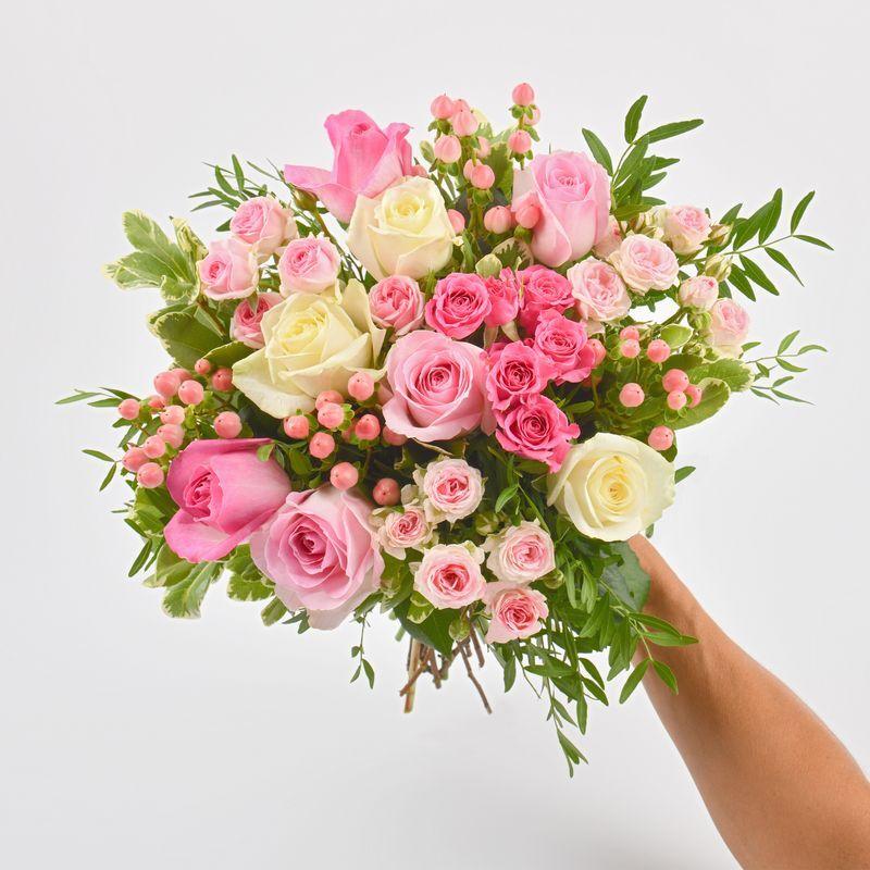Interflora Envoyer Fleurs : Bouquet Vanille Fraise - Livraison Interflora