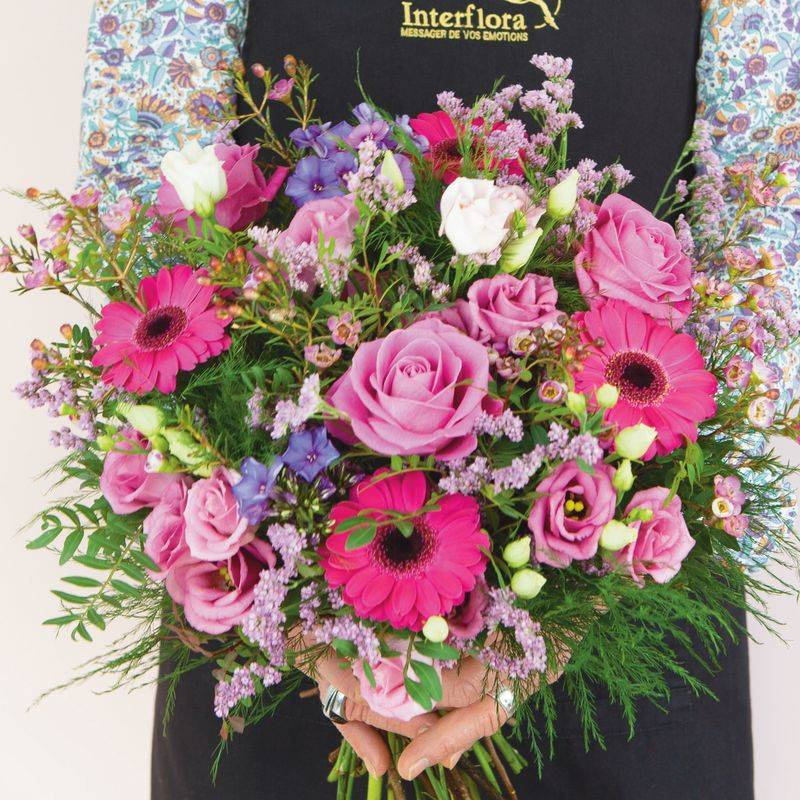 Interflora Livraison Fleurs Interflora : Bouquet du Fleuriste rose