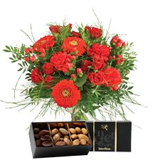 Interflora Pomme d'amour et ses amandes au chocolat