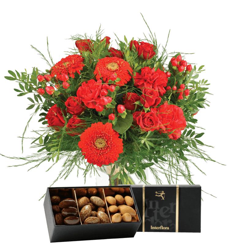 Interflora Livraison Fleurs Interflora : Bouquet Pomme d'amour et ses amandes au chocolat