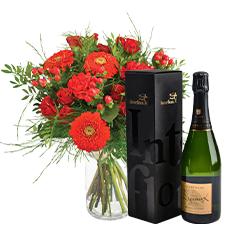 Interflora Pomme d'amour et son champagne Devaux