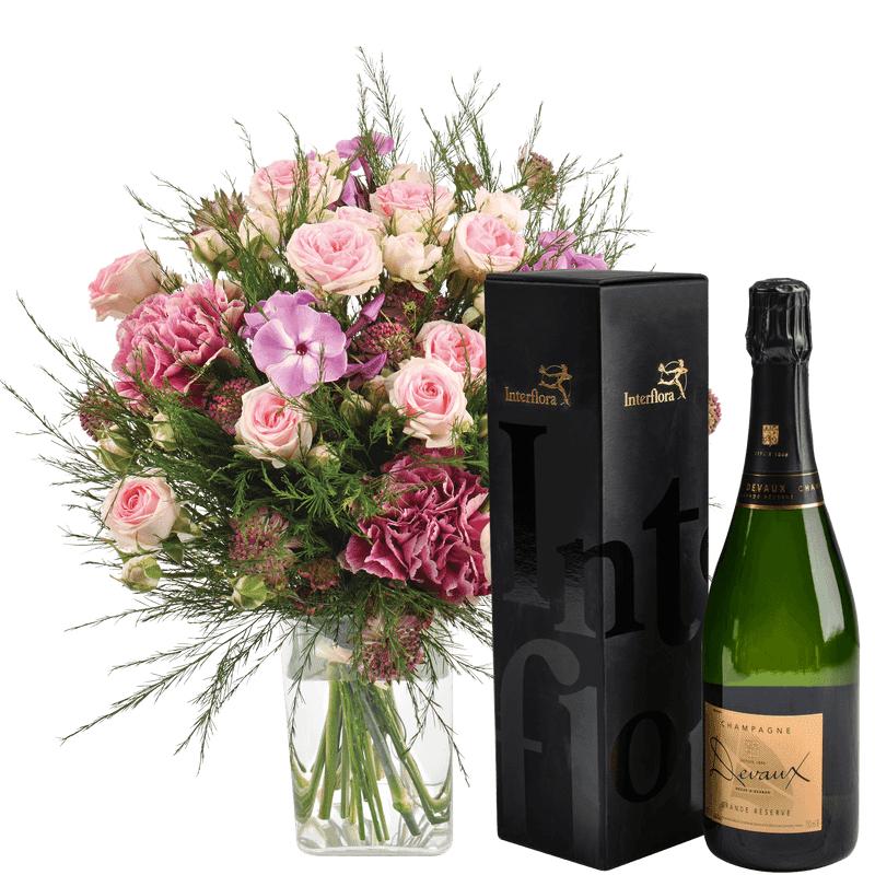 Interflora Livraison Fleurs et Champagne en 4H - Idée Cadeau Anniversaire - Interflora