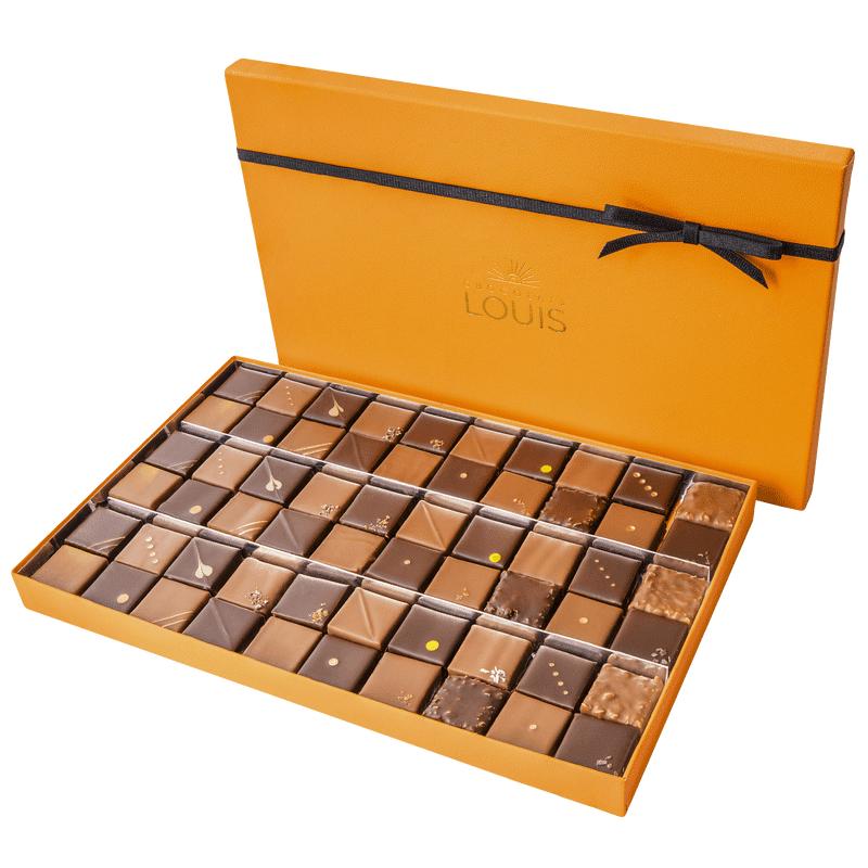 Interflora Assortiment de 60 ganaches et pralinés chocolat noir et lait - Chocolats Louis