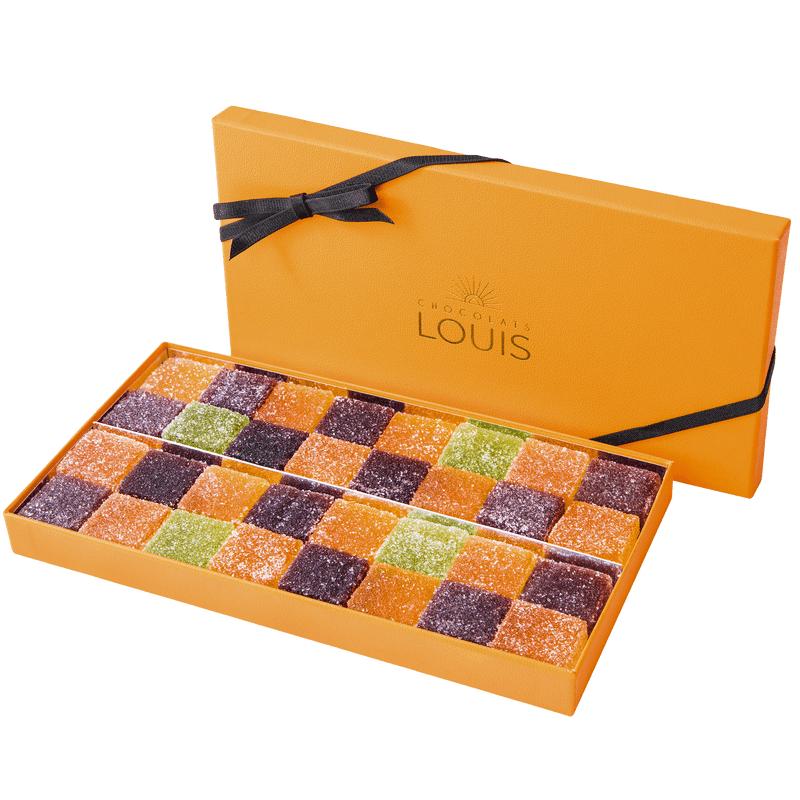 Interflora Coffret de pâtes de fruits X 32 - Chocolats Louis - Livraison par Chronopost - L'atelier Interflora - Interflora