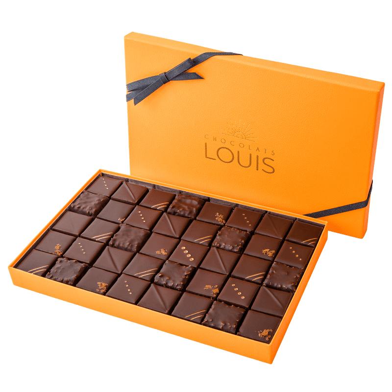Interflora Coffret pralinés chocolat noir X 40 - Chocolats Louis - Livraison par Chronopost - L'atelier Interflora - Interflora