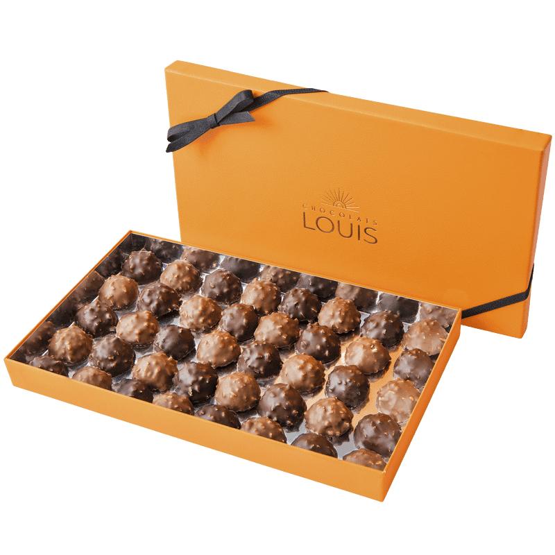 Interflora Coffret rochers chocolat noir et lait X 40 - Chocolats Louis - Livraison par Chronopost - L'atelier Interflora - Interflora