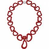Swarovski Collier Tigris Statement, rouge, Métal plaqué palladium