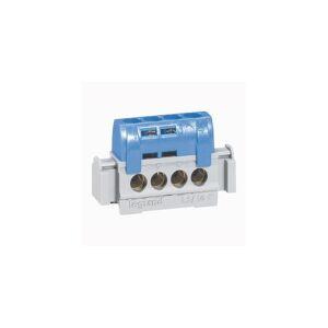 LEGRAND Bornier de répartition isolé IP2X neutre - 4 connexions 1,5mm² à 16mm² - bleu - L.75mm - Publicité