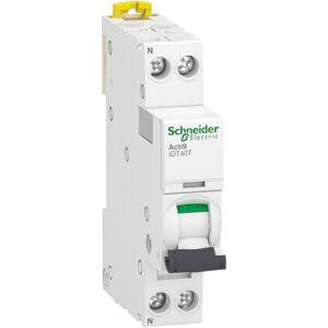 SCHNEIDER Disjoncteur 10A courbe C - 1P+N - 4500A/6kA - Acti9 iDT40T - Publicité