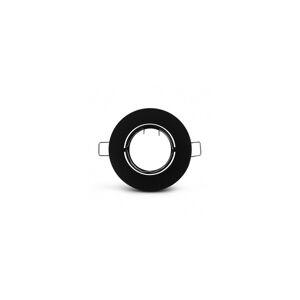 VISION EL Support plafond rond orientable noir Ø92 mm - Publicité