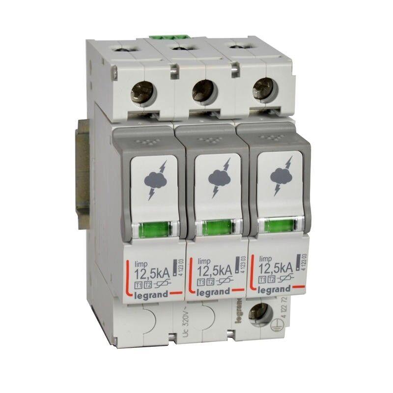 LEGRAND Parafoudre protection tableau principal T1 + T2 Iimp 12,5kA/pôle - 3P - 3 modules