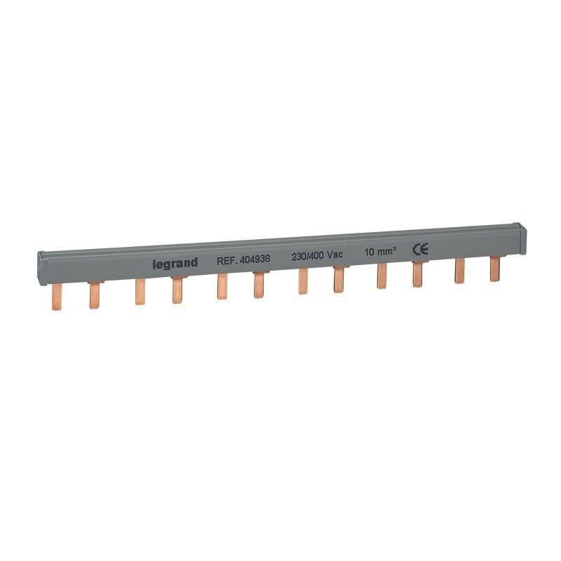 LEGRAND Peigne d'alimentation bipolaire HX³ traditionnel pour bornes à vis - long. 12 modules maxi. 6 appareils