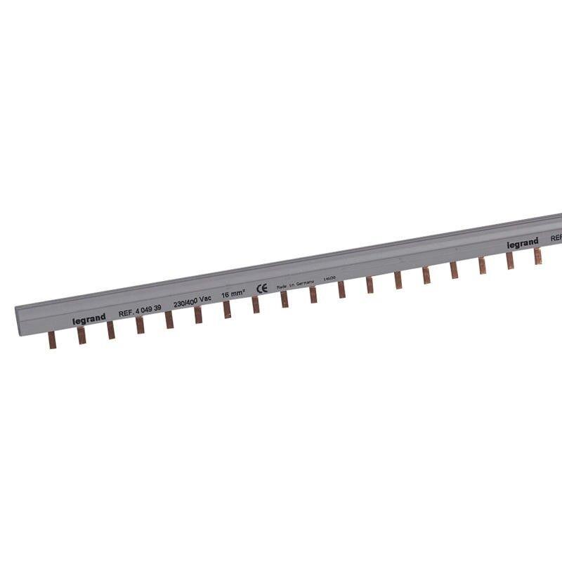 LEGRAND Peigne d'alimentation bipolaire HX³ traditionnel pour bornes à vis - long. 56 modules maxi. 28 appareils