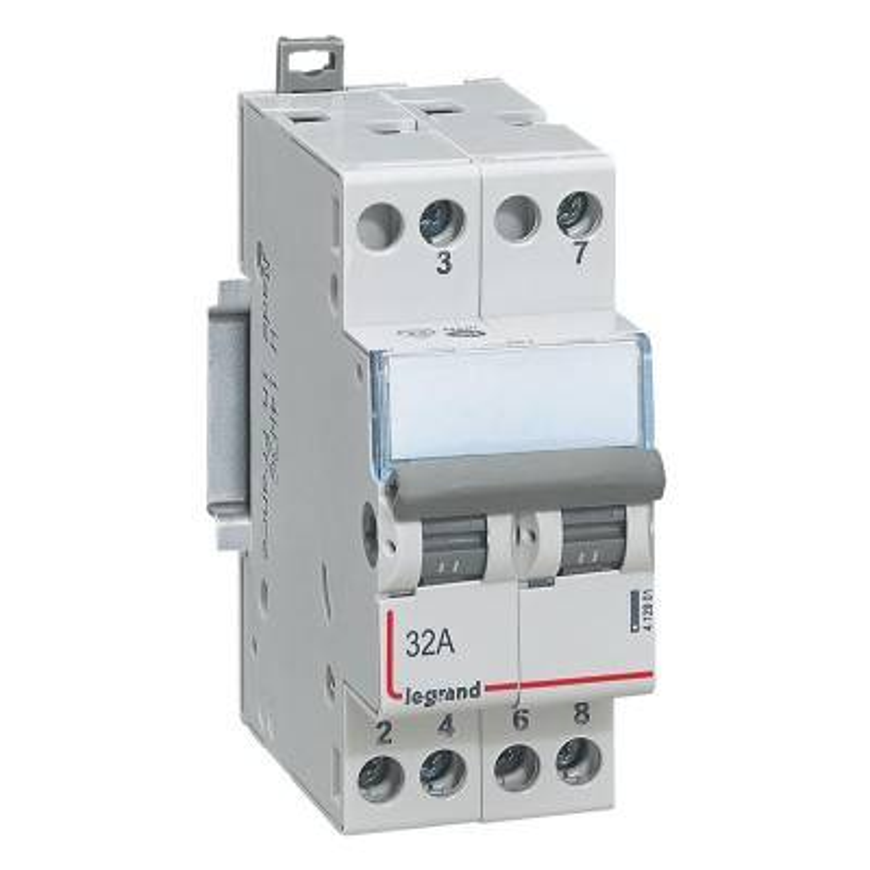 LEGRAND Interrupteur-inverseur modulaire double va-et-vient 400V~ - 2 modules