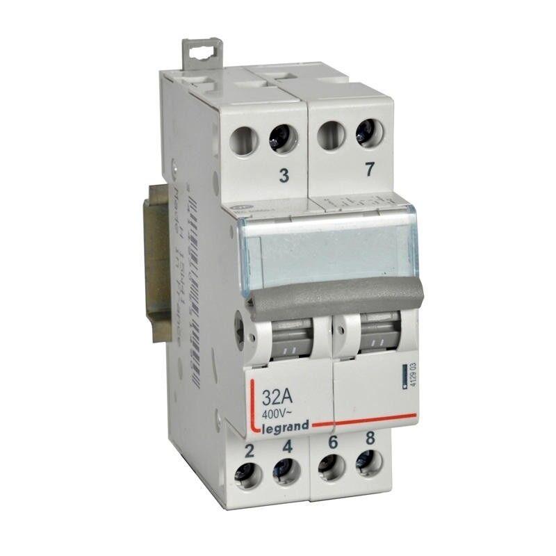 LEGRAND Interrupteur-inverseur modulaire double va-et-vient à point milieu 250V~ - 2 modules