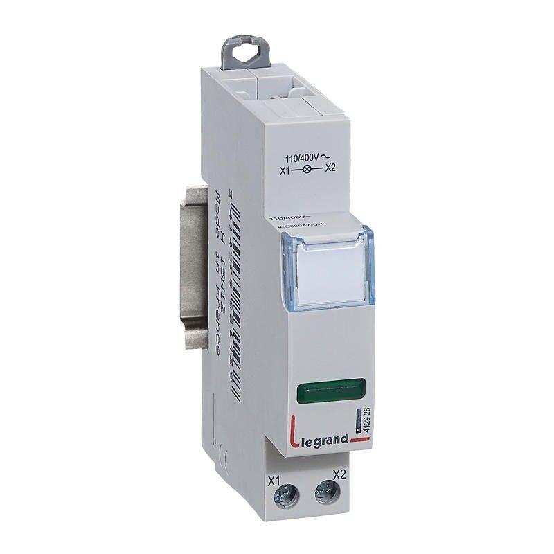 LEGRAND Voyant simple LED vert 110V~ à 400V~ - 1 module