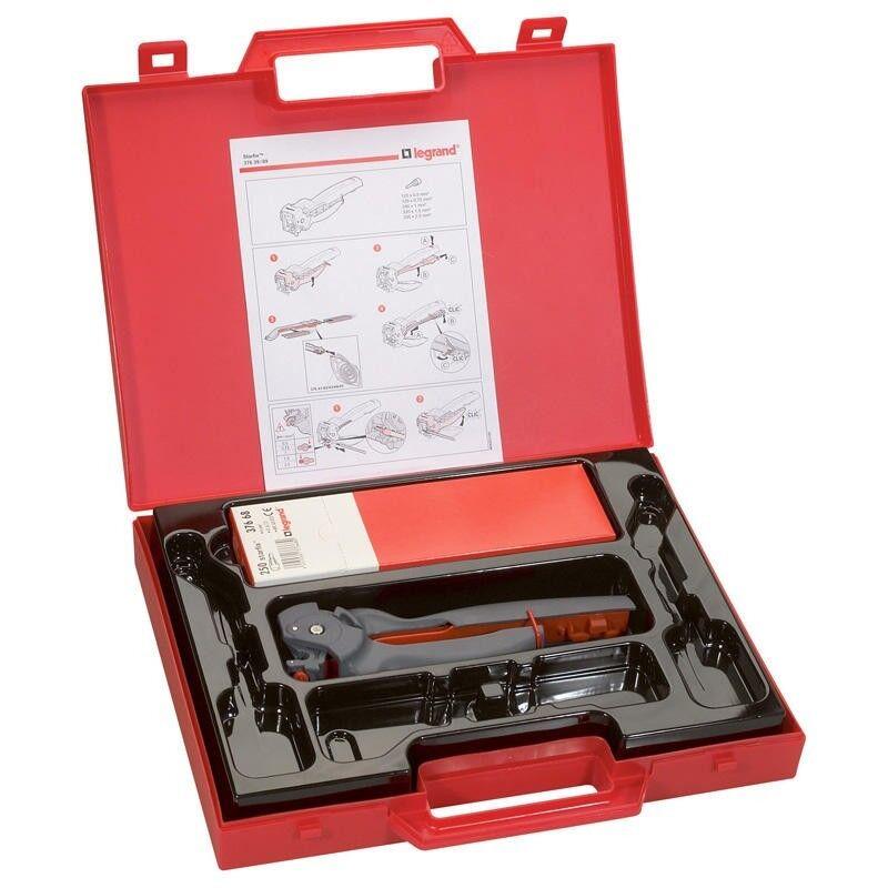 LEGRAND Pince à sertir Starfix pour embouts en bandes sections 0,5 à 2,5mm² - mallette avec embouts