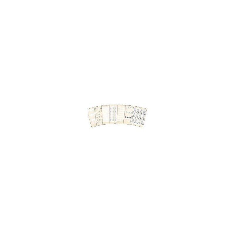 LEGRAND Etiquettes de repérage 91,4x9,5mm pour plastron et panneau de brassage - Emballage 440