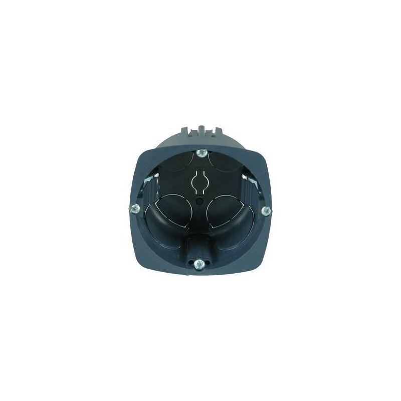 EUR'OHM Boîte d'encastrement Eur'ohm - XL Ultra - Lot de 100 - 1 poste - Ø67mm - prof. 40 mm + scie cloche