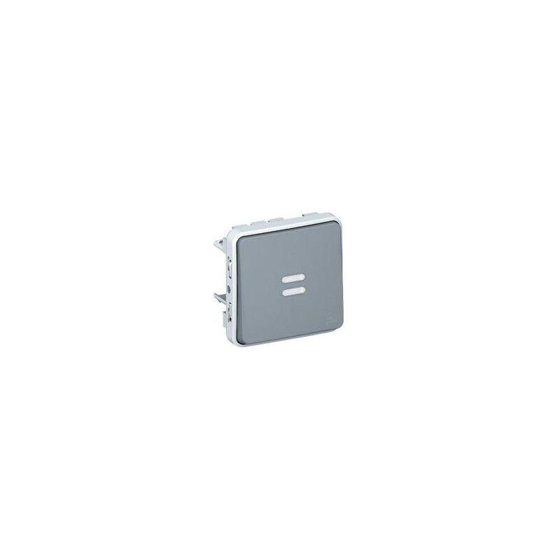 LEGRAND Interrupteur ou va-et-vient lumineux PLEXO composable IP55 10AX 250V - gris