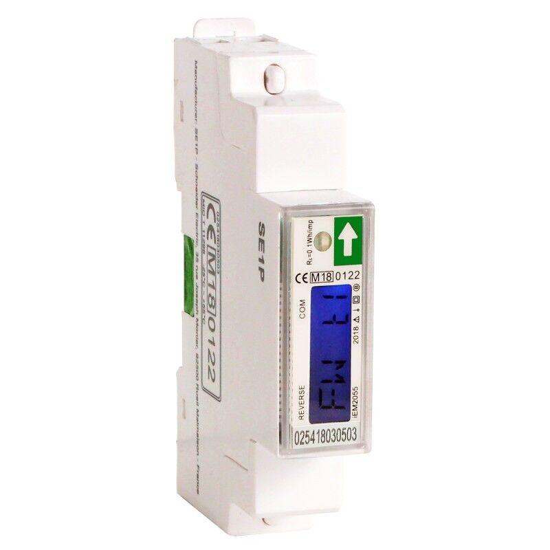 SCHNEIDER Compteur d'energie monophasé Acti9 iEM - 230V - 45A - afficheur Modbus
