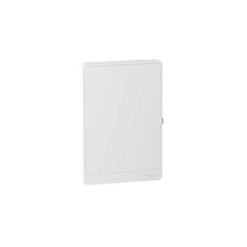 SCHNEIDER Porte Styl blanche opaque pour coffret Resi9 13 Modules - 2 Rangées