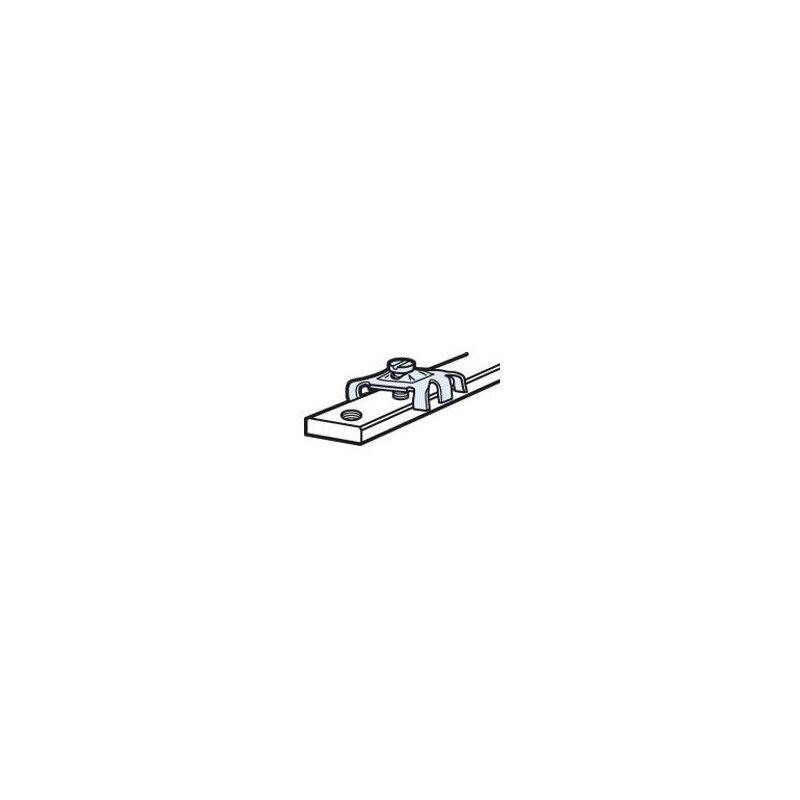 LEGRAND Connecteur pour barre cuivre 12x4mm à trous taraudés - pour 1 ou 2 conducteurs de 1,5mm² à 10mm²