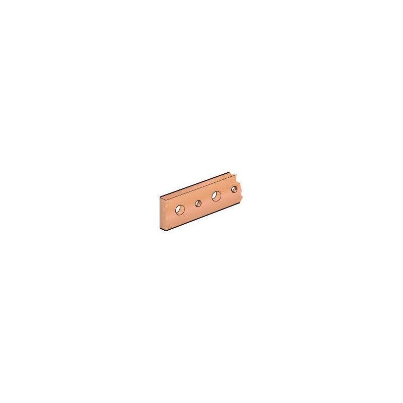 LEGRAND Barre cuivre plate rigide à trous taraudés section 25x5mm - 330A ou 270A admissibles - long. 1750mm