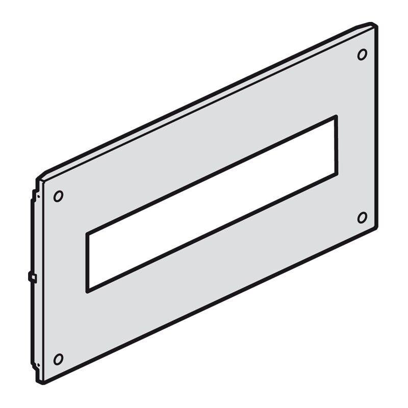 LEGRAND Plastron métal à vis pour appareils modulaires dans XL³4000 ou XL³800 - haut. 150mm - 24 modules