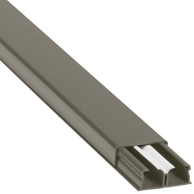LEGRAND Guide-câbles marron 32x12,5mm grande capacité 2 compartiments - longueur 2,1m